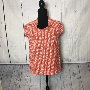CAbi Madeline 294 Blouse Size Small Orange White